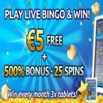 Tablet winnen bij BingoCams