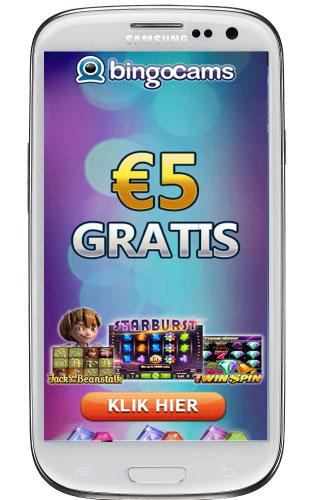 Android bingo op smartphone